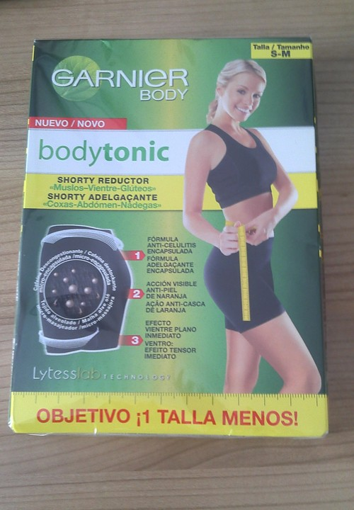 shorty reductor anticelulitico garnier bodytonic
