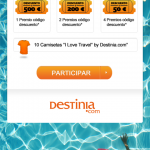 sorteo destinia, descuentos destinia, promociones destinia, ahorradoras, ahorradoras.com, viajar barato, viajar gratis,