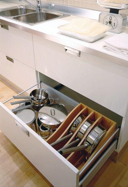6 formas de organizar las ollas