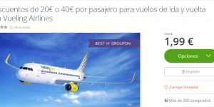 cupon descuento vueling groupon